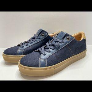 NEW GREATS The Royale Denim Womens Sneaker Indigo
